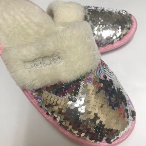 Other - Bebe Sequin Slippers